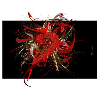Zip Top Handbag - Zip Top Handväska - Christmas Mismatch black
