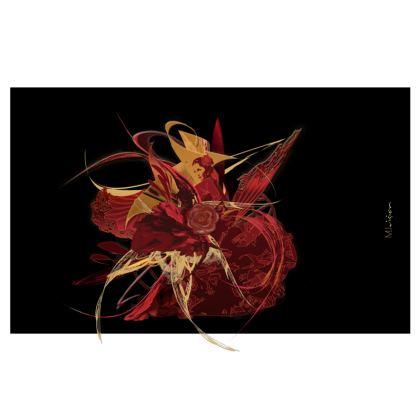 Zip Top Handbag - Zip Top Handväska - Flamenco black
