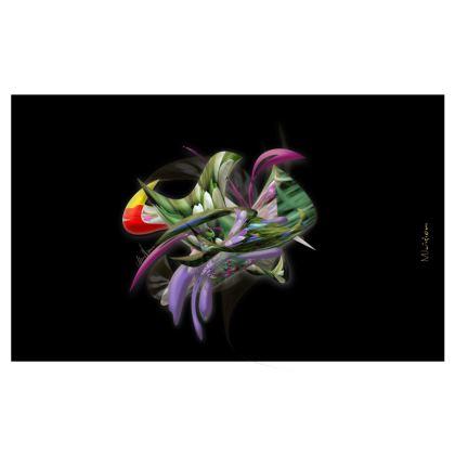 Zip Top Handbag - Zip Top Handväska - Spring flower black