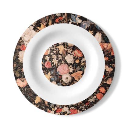 Victorian Floral Original decorative plate