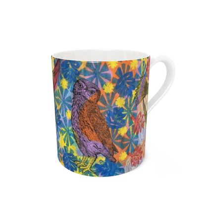 Birds in Pink & Yellow Skies - Mug