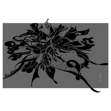 Zip Top Handbag - Zip Top Handväska - Black ink grey