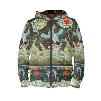 Chinese Crane Ultra Premium Zip Hoodie (XXS-4XL)(Artistic Collection)