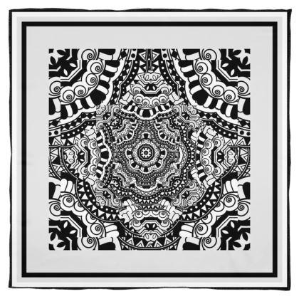 Foulard artistici in seta.
