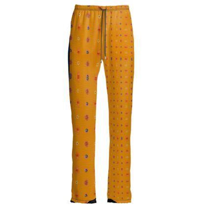 Pantalon confort satin velour