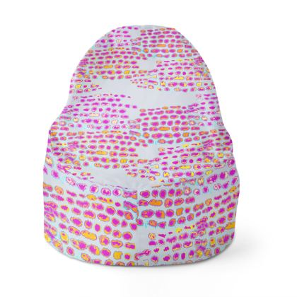 Textural Collection in grey and magenta Bean Bags