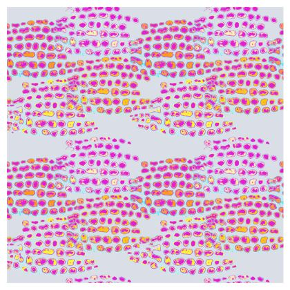 Textural Collection in grey and magenta Double Deckchair