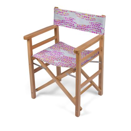 Textural Collection in grey and magenta Directors Chair