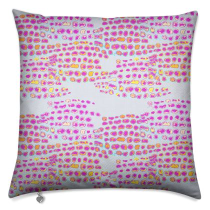 Textural Collection in grey and magenta Luxury Cushions