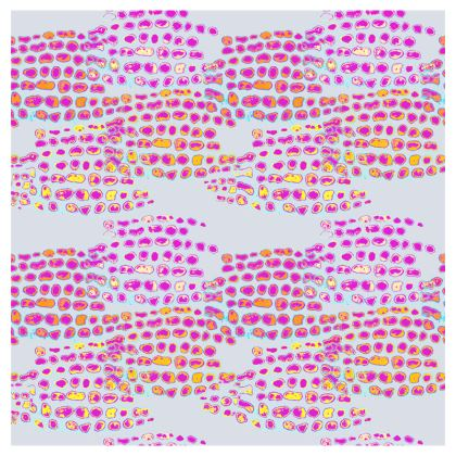 Textural Collection in grey and magenta Cup And Saucer