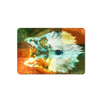 Mexican Grey Wolf Pet Food Mat