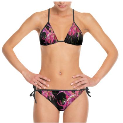 Bikini - Pink flow black