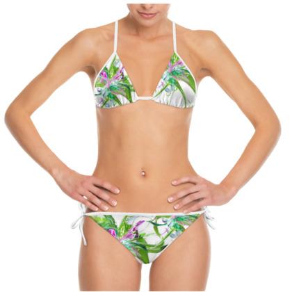 Bikini - Summer flower white