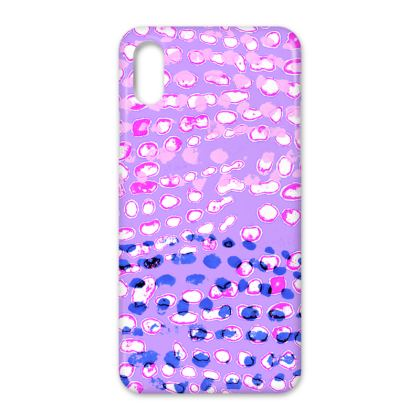 Textural Collection multicolored in mauve and blue IPhone Cases