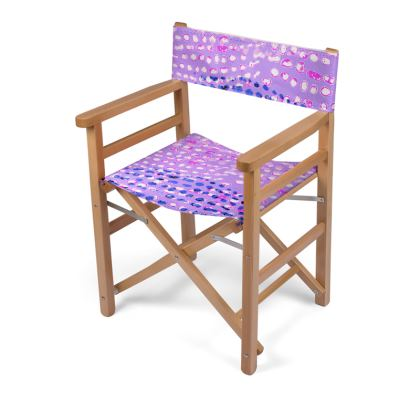 Textural Collection multicolored in mauve and blue Directors Chair