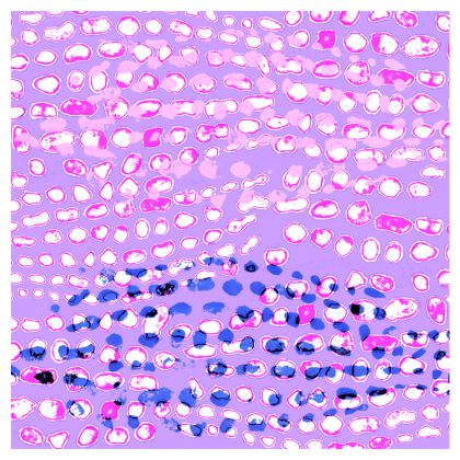 Textural Collection multicolored in mauve and blue Double Deckchair