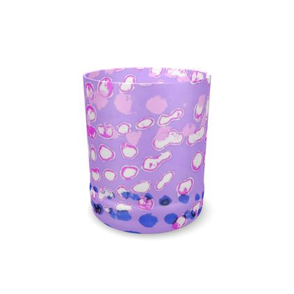 Textural Collection multicolored in mauve and blue Whisky Glass