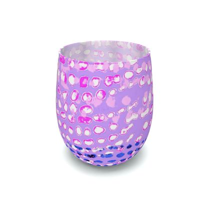 Textural Collection multicolored in mauve and blue Water Glass
