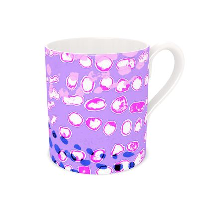 Textural Collection multicolored in mauve and blue Bone China Mug