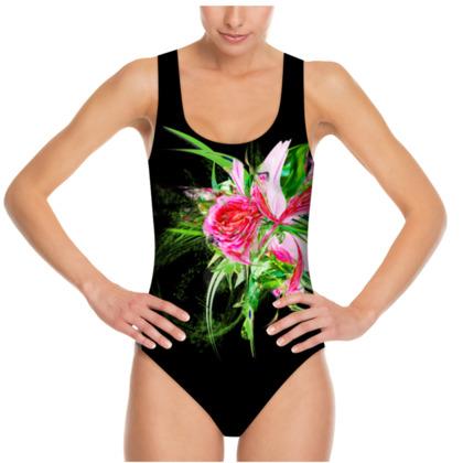 Swimsuit - Baddräkt - Pastells black