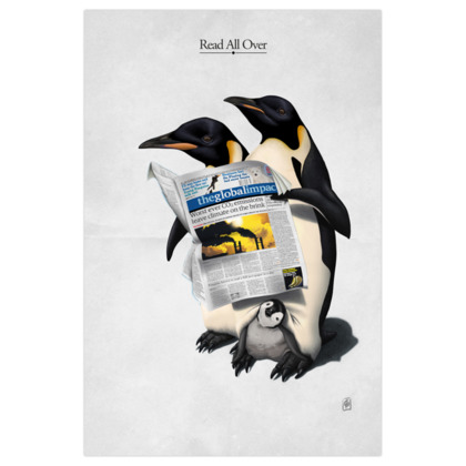 Read All Over  ~ Title Animal Behaviour Art Print