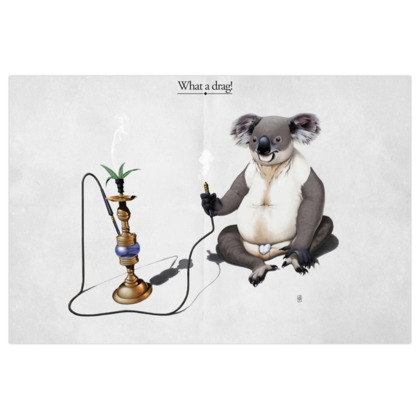 What a Drag ~ Title Animal Behaviour Art Print