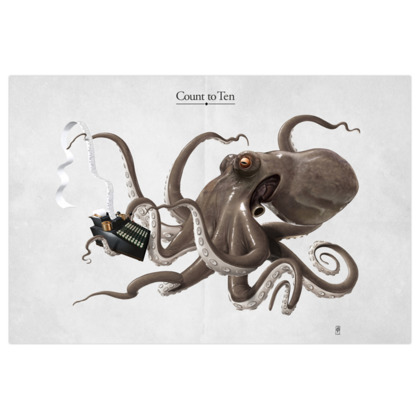 Count to Ten ~ Title Animal Behaviour Art Print