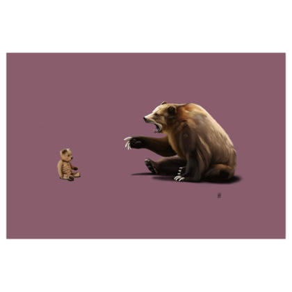 Brunt ~ Colour Animal Behaviour Art Print