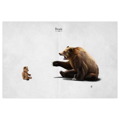 Brunt ~ Title Animal Behaviour Art Print