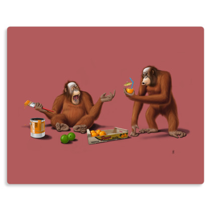 Orange Man ~ Colour Animal Behaviour Metal Print