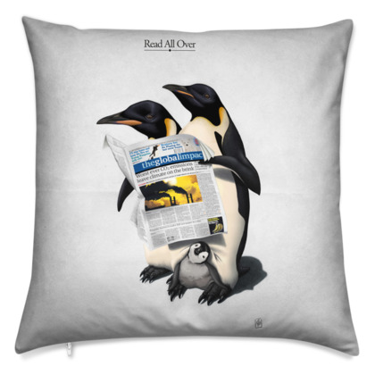 Read All Over ~ Title Animal Behaviour Cushion
