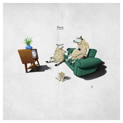 Sheep ~ Title Animal Behaviour Cushion