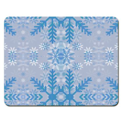 Baby blue snowflakes pattern