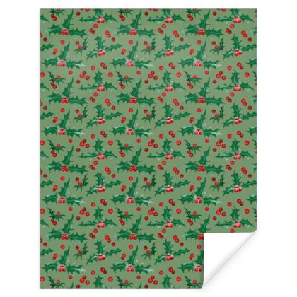 Holly [Light Green] Pattern Gift Wrap