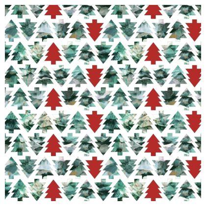 Painted Christmas pine trees