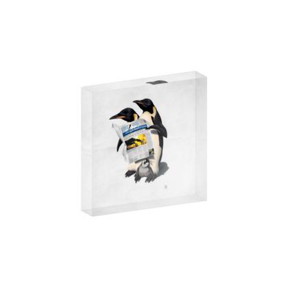 Read All Over ~ Wordless Animal Behaviour Acrylic Block