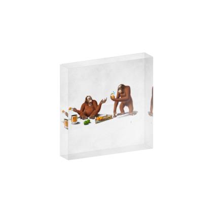 Orange Man ~ Wordless Animal Behaviour Acrylic Block