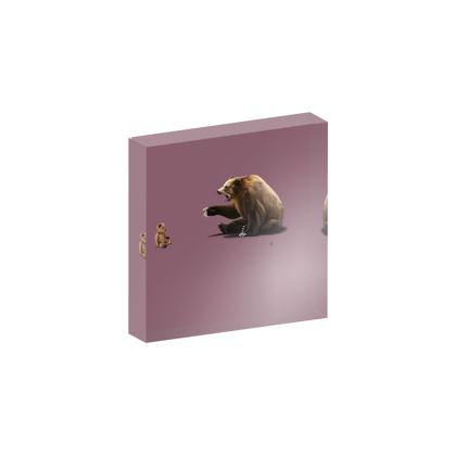 Brunt ~ Colour Animal Behaviour Acrylic Block
