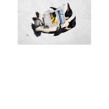 Read All Over ~ Wordless Animal Behaviour Art Postcard