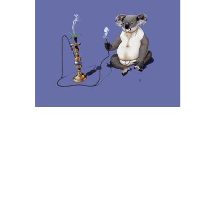 What a Drag ~ Colour Animal Behaviour Art Postcard
