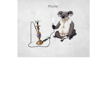 What a Drag ~ Title Animal Behaviour Art Postcard