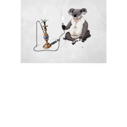 What a Drag ~ Wordless Animal Behaviour Art Postcard