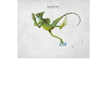 Keep the Faith ~ Title Animal Behaviour Art Postcard
