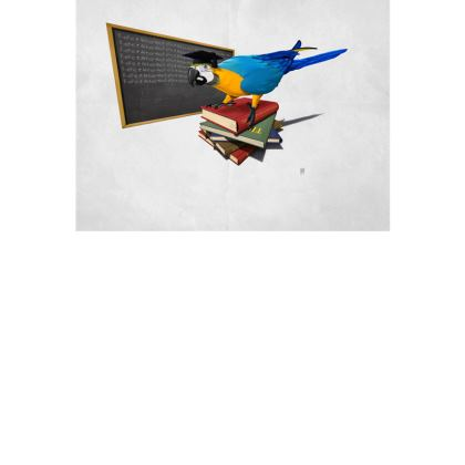 Repeat ~ Wordless Animal Behaviour Art Postcard