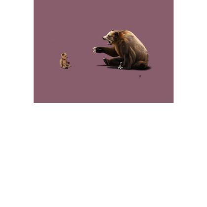 Brunt ~ Colour Animal Behaviour Art Postcard