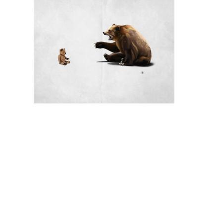 Brunt ~ Wordless Animal Behaviour Art Postcard