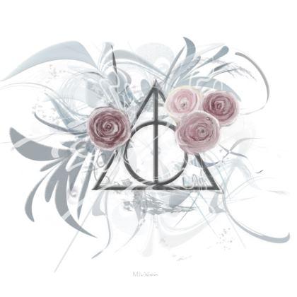 Serving Platter - Uppläggningsfat - Flower Triange white