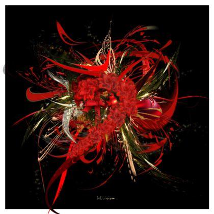 Serving Platter - Uppläggningsfat - Christmas Mismatch black