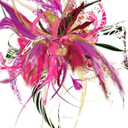 Serving Platter - Uppläggningsfat - Pink flow white