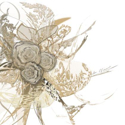 Serving Platter - Uppläggningsfat - 50 shades of lace white